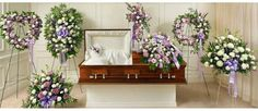 Great Selection of Lavender Sympathy Flower Arrangements such as lavender standing sprays, lavender funeral wreaths, lavender cross and much Funeral Bouquet, Funeral Flowers, Funeral Floral Arrangements, Flower Arrangements, Casket Flowers, Funeral Caskets, Flowers For Men, Funeral Sprays, Funeral Planning