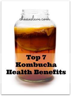 Kombucha Health Benefits / http://www.cheeseslave.com/kombucha-health-benefits/