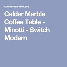 Calder Marble Coffee Table - Minotti - Switch Modern