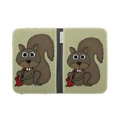 Squirrel Playing the Saxophone Kindle Case #squirrels #music #saxophone #funny #animals #kindlecase #art #gifts #zazzle #petspower