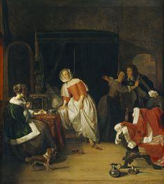 Gabriël Metsu. El intruso. National Gallery. Washington. EEUU