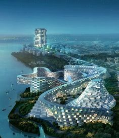 Four architectural firms, Big Copenhagen, INABA Los Angeles, and MAD of Beijing Mass Studies of Seoul, proposed a new urban plan for Ansan, South Korea