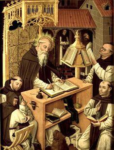 St Jerome in the scriptorium Master of Parral1480 - 1490
