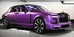 Matte Purple Mansory Rolls Royce Phantom