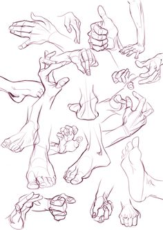 Human Figure Drawing Tutorial hands and feet drawing by OrsoB - Hand Drawing Reference, Anatomy Reference, Art Reference Poses, Design Reference, Drawing Tips, Drawing Techniques, Human Anatomy Drawing, Human Figure Drawing, Anatomy Art