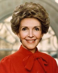 Nancy Reagan 6.7.1921 - 6.3.2016, american actress and First Lady 1981-1989