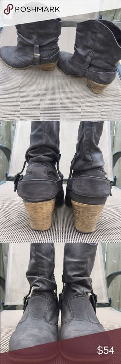 HOT TOPIC BOOTS Like new condition. Stylish and great look for a night out. The brown mocha leather has no flaws.  No fading or rips in the material. Hot Topic Shoes Ankle Boots & Booties