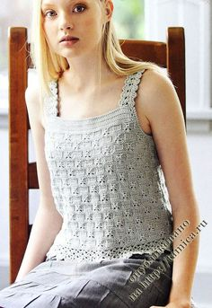 Blouse Au Crochet, Crochet Cardigan, Pull Crochet, Knit Crochet, Knitting Patterns Free, Free Knitting, Blouse Pattern Free, Summer Knitting, Crochet Fashion