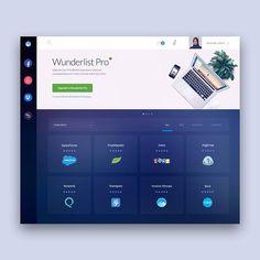 Focus UI Movement - The best UI design inspiration, every day. Web Dashboard, Ui Web, Dashboard Design, App Ui Design, Site Design, Design Web, Web Wordpress, Logo Design, Planner Dashboard
