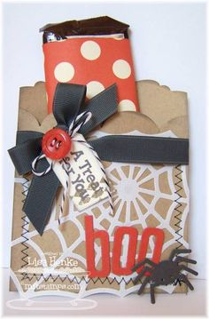 MFTSEPT12-boo treat bag by lisahenke - Cards and Paper Crafts at Splitcoaststampers