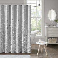 Vince Camuto Lyon Brushstroke Printed Shower Curtains Purple