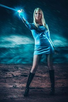 An amazing blue science officer cosplay from Star Trek. - 12 Star Trek Cosplays