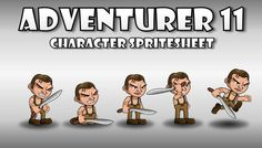 Adventurer Spritesheet 11 has just been added to GameDev Market! Check it out: http://ift.tt/1OScbYz #gamedev #indiedev