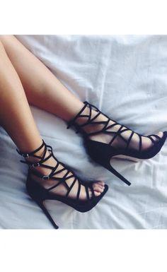 Gingah Heels Black - Windsor Smith - Shoes Size 8