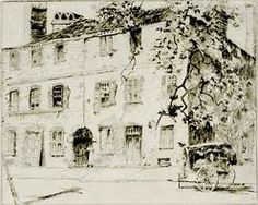 Alfred Hutty Etching Prices | Hutty, Alfred Heber; Etching & Drypoint, signed, Cabbage Row, a Street ...