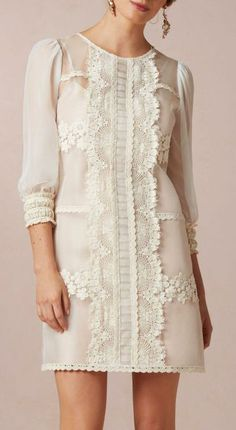 There's something about this that I just LOVE! I would finish the sleeves with lace and make it about a foot longer.
