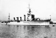 Japanese light cruiser Jintsu - present at the Japanese Java Sea victory in 1942, she was sunk the following year.