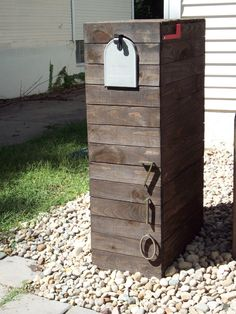 custom mailbox -- dent this, hoodlums, I need so people will quit running over my stuff!
