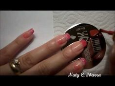 Nail art video using stamps