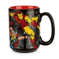Disney Store Marvel Comics Mug  Black ** Click image to review more details.Note:It is affiliate link to Amazon.