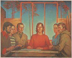 Художник Юрий Ракша: dok_zlo  Разговор о будущем. 1979