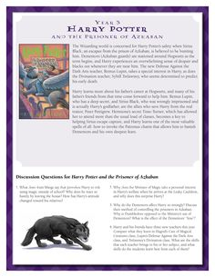 Discussion Guide for Harry Potter and the Prisoner of Azkaban by J.K. Rowling.    Download by clicking image above!    For more information visit www.scholastic.com/hpread