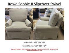 Rowe Furniture Sophie II Slipcover Swivel Chair