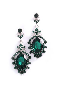 Emerald Deco Earrings | Awesome Selection of Chic Fashion Jewelry | Emma Stine Limited