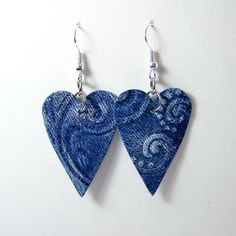12 Simple and Valuable DIY Earring Projects Denim Earrings, Gold Bar Earrings, Leather Earrings, Clay Earrings, Leather Jewelry, Jewelry Crafts, Jewelry Art, Handmade Jewelry, Jewelry Ideas