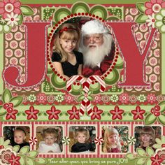 Joy Christmas Page...without all the stuff in the corners