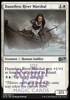 **4x FOIL Dauntless River Marshal* MTG M15 Core Set Uncom MT white human soldier