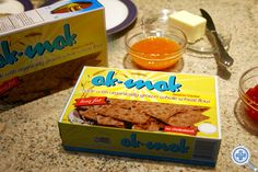 """Ak-Mak Crackers are only 20 calories per """"cracker"""".  Four crackers come in a row.  They are slightly sweet and pair beautifully with broiled pears and a little Laughing Cow Bleu Cheese spread.  YUM!"""