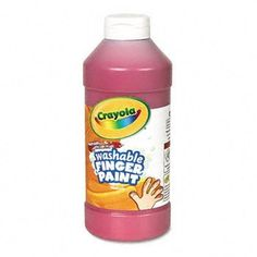 Washable Fingerpaint, Red, 16 oz by Crayola. $35.95. The creamy consistency of crayola washable fingerpaint is just right for little fingers. Excellent washability; the bright colors wash easily from skin and most washable clothing. Makes fingerpainting worry free for teachers and parents. Wont crack or rub off when dry. Does not separate. Freeze-thaw stable. Color(s): Red; Assortment: N/A; Chemical Compound: Water Base; Capacity (Volume): 16.000 oz.