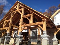 Mid-Atlantic Timberframes has partnered with MossCreek to offer a collection of ready to purchase timber frame home plans. Timber Frame Home Plans, Timber Frame Homes, Mountain House Plans, Post And Beam, Custom Design, How To Plan, House Styles, Construction, Home Decor