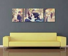 Couch @ Wall display guides & virtual room scenes for photographers and fine artists by Ariana Falerni Design Canvas Display, Display Wall, Display Ideas, Images Murales, Canvas Wall Art, Canvas Prints, Large Canvas, Above Couch, Family Wall Decor