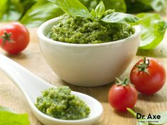 This Basil Tomato Pesto recipe is a little twist on a classic recipe. It's healthy, delicious and sure to be a hit!