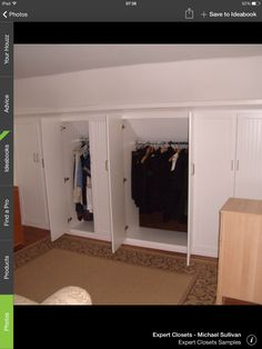 Wardrobes in the eves