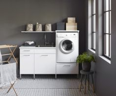 Nordic style for a laundry room - Vedum
