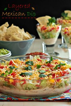 Layered Mexican Dip ~ perfect game day appetizer!