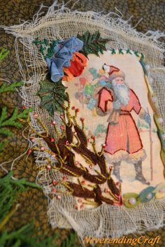 An embroidery a day ... Une broderie par jour (calendrier de l'avent) Jour 3 http://www.neverendingcraft.canalblog.com