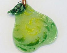 Ornamento de la Navidad de vitrofusión copo de nieve por CDChilds