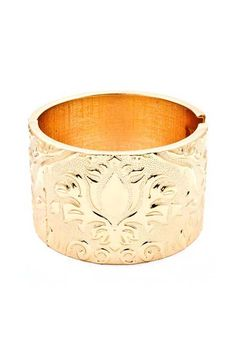 Damask Cuff Bracelet in Gold