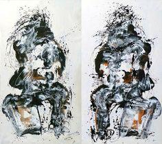 "Saatchi Art Artist FERNANDO NIEVAS; Painting, ""X 47  y   X 48  ESPERANDO "" #art"