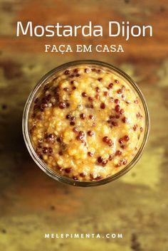 Mostarda dijon caseira Prepare na sua casa essa deliciosa mostarda caseira feita com os grãos. Essa mostarda é fácil de fazer, é muito saborosa e intensa. Confira a receita.
