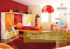#ThursdayInteriors  Mix it! A mixture of colours and patterns makes the room pop.  www.ashar.in  #AsharGroup #RealEstate #Thane