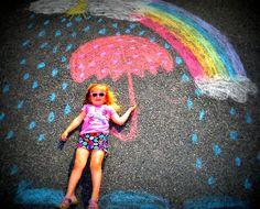 Fun with Sidewalk Chalk!