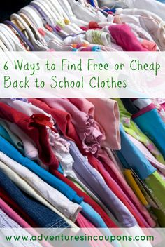 Ready to start back to school shopping? Don't break the bank! Check out these 6 ways to find free or cheap back to school clothes!