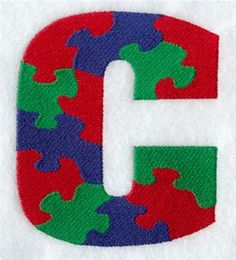 Machine Embroidery Designs at Embroidery Library! - Puzzle Alphabet