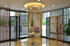 Partition/screen with our hollow designs ,colorful, shiny, luxury. Partition Screen, Stainless Steel Sheet, 3d Design, Colorful, Luxury, Room, Furniture, Home Decor, Bedroom