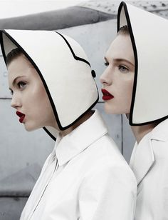Lindsey Wixson and Ashleigh Good by Emma Summerton